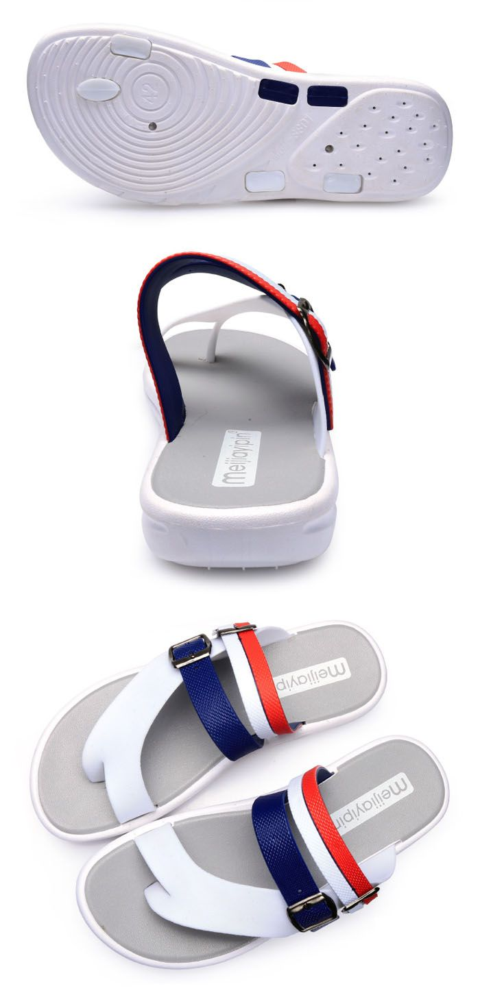 Summer Men Leisure Flat Sole Anti-slip Flip-flop Slipper for Outdoor / Home