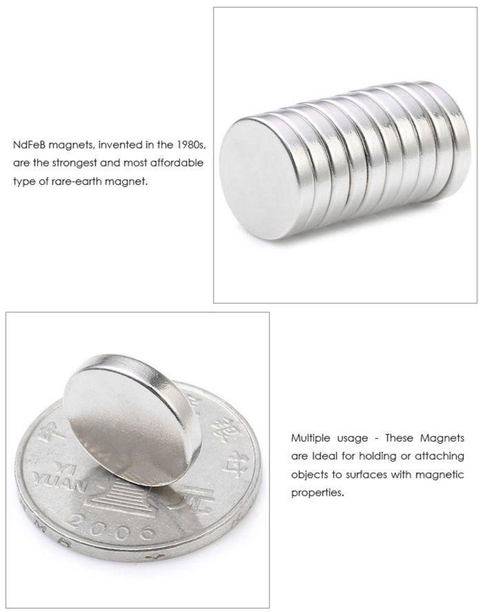 10Pcs 15 x 15 x 3mm N38 Strong NdFeB Round Magnet Birthday DIY Intelligent Gift