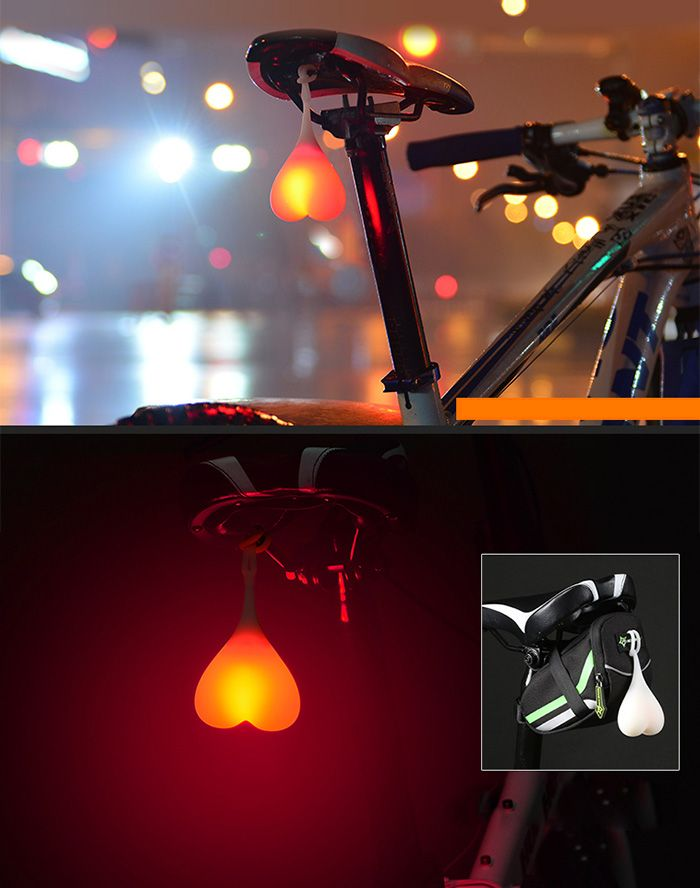 ROCKBROS HY - LD228 2 Modes LED Silicone Bicycle Rear Light