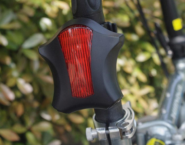 LEADBIKE Starfish Shaped Night Bicycle Tail Light with Laser Parallel Ray