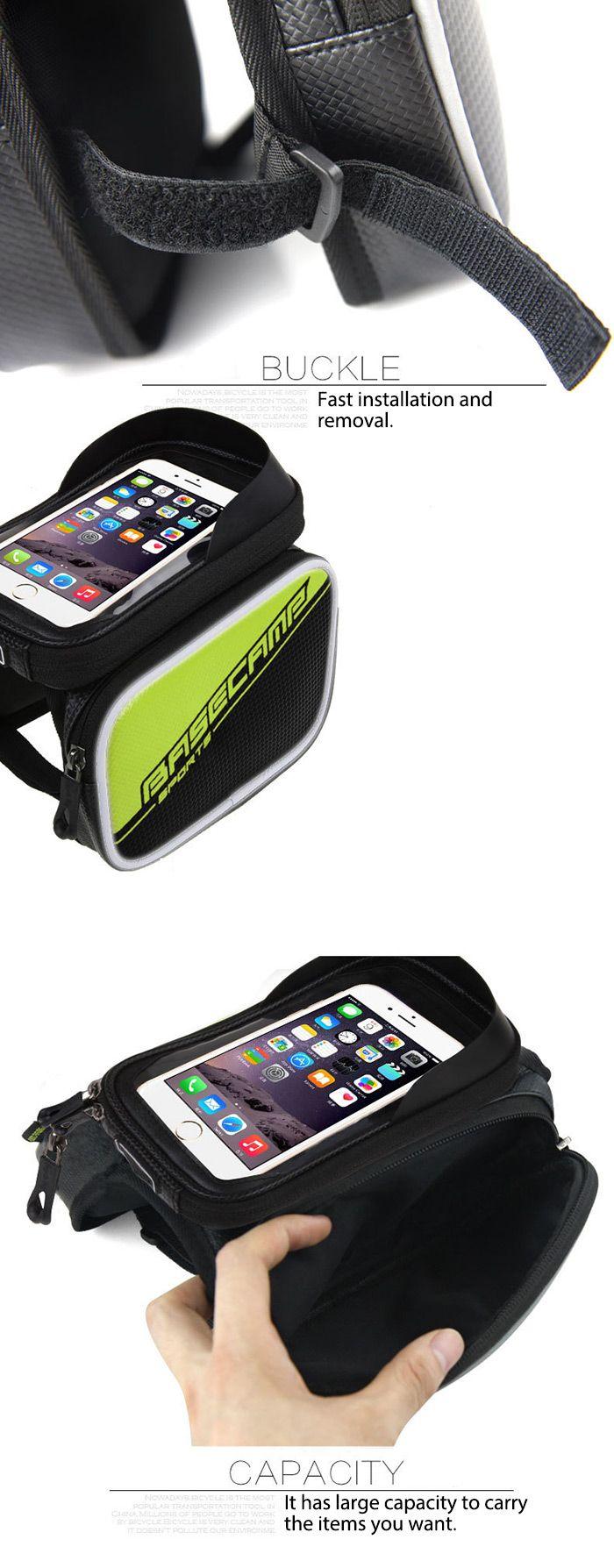 BASECAMP BC - 301 Bicycle Front Frame Bags Waterproof Tube Bag