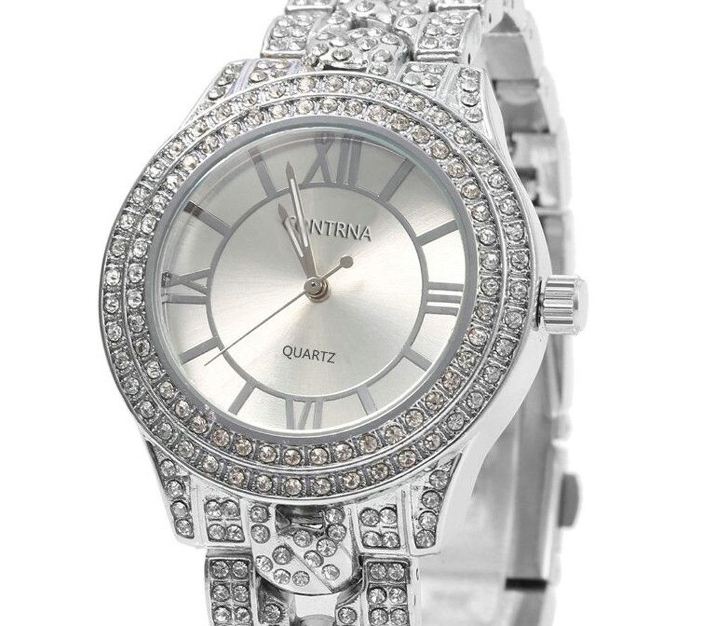 Contena GENEVA Double-row Diamond Lady Quartz Watch