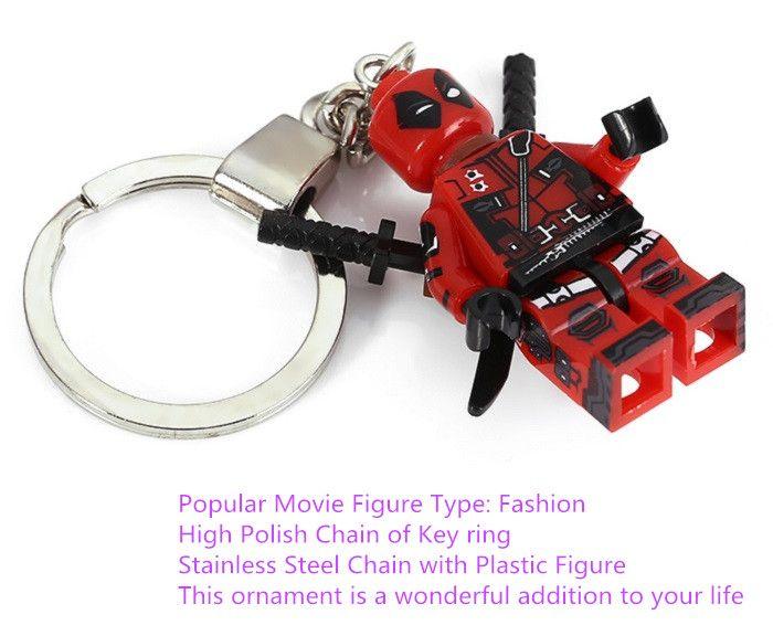 Soldier Shape Hanging Pendant Plastic Key Chain Movie Product Bag Decor - 3.14 inch