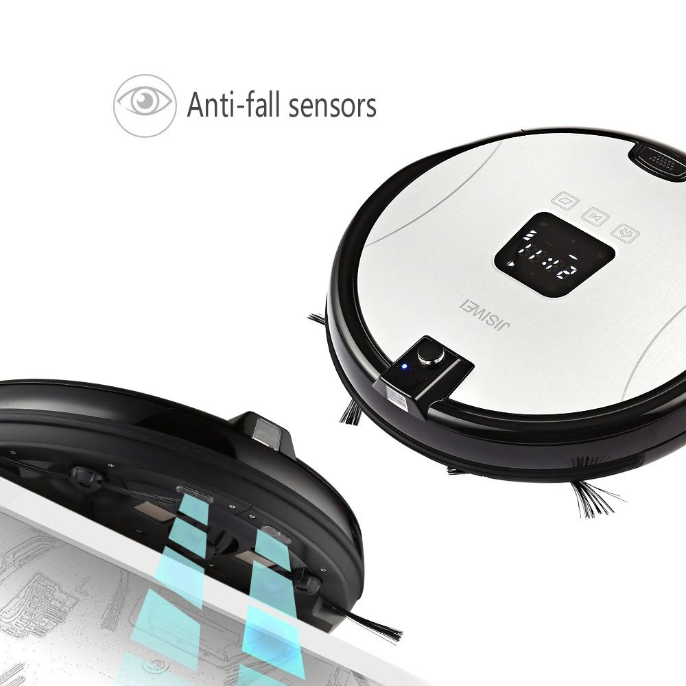 JISIWEI S+ Smart Robotic Vacuum Cleaner TPU Avoidance Sensor Remote Mobile APP Control HD Camera Robot Mopping Tool