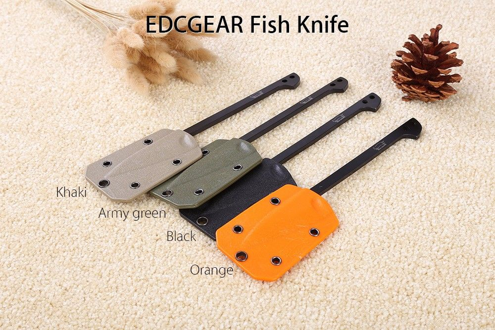 EDCGEAR Outdoor Survival Fish Knife Cutting Tool with Sheath + 1.5m 9-core Parachute
