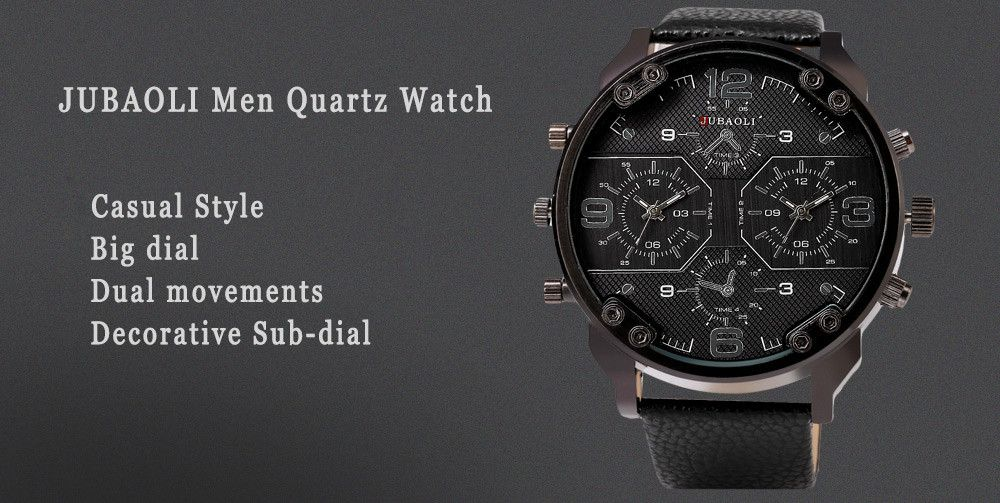 JUBAOLI 1119 Casual Male Quartz Watch with Multiple Sub-dial