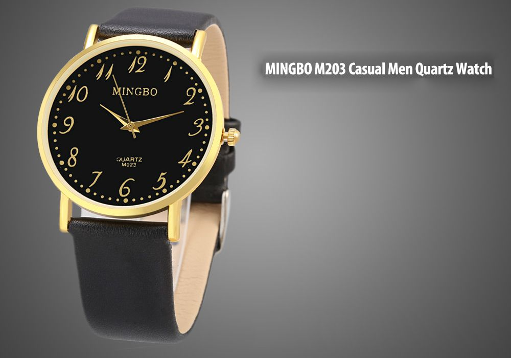 MINGBO M023 Number Scale Casual Quartz Watch for Men
