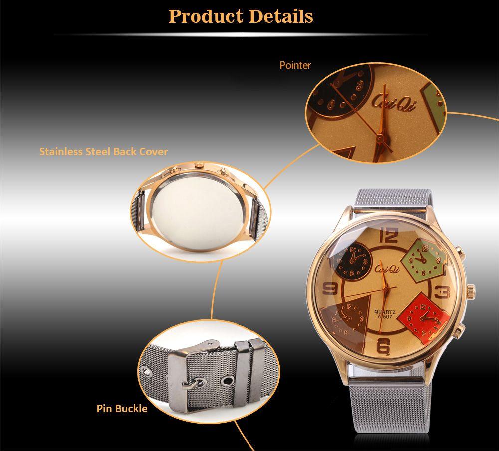 CaiQi A - 507 Fashion Multiple Pattern Dial Quartz Watch for Men