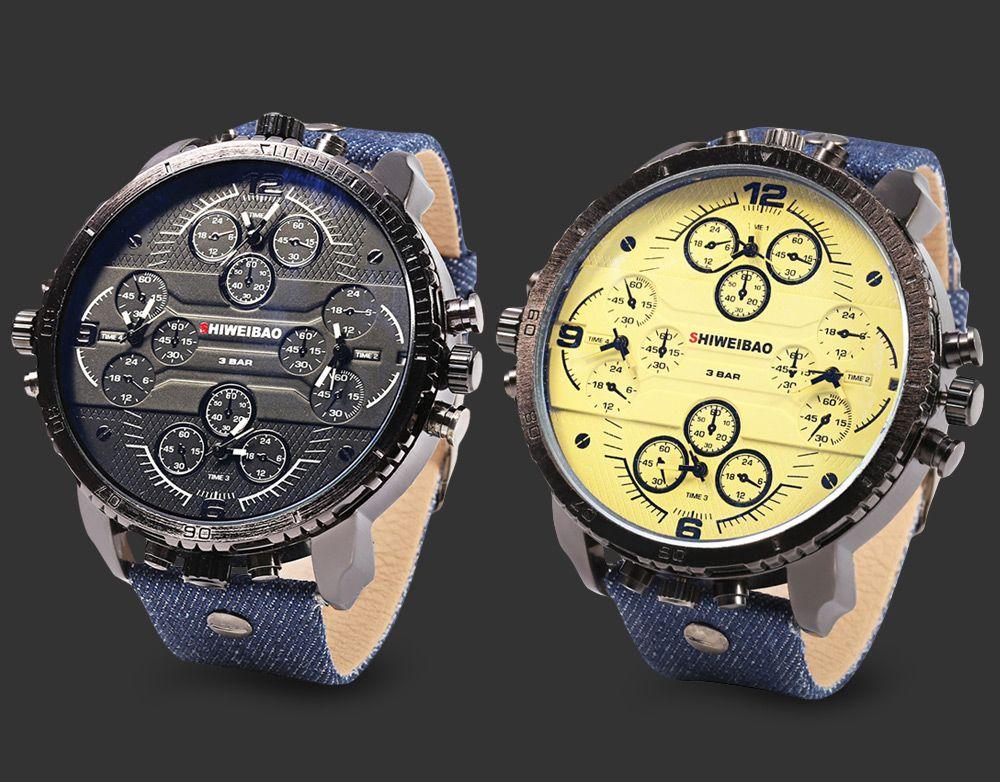 SHIWEIBAO A1165 Casual Oversized Dial Quartz Watch for Men