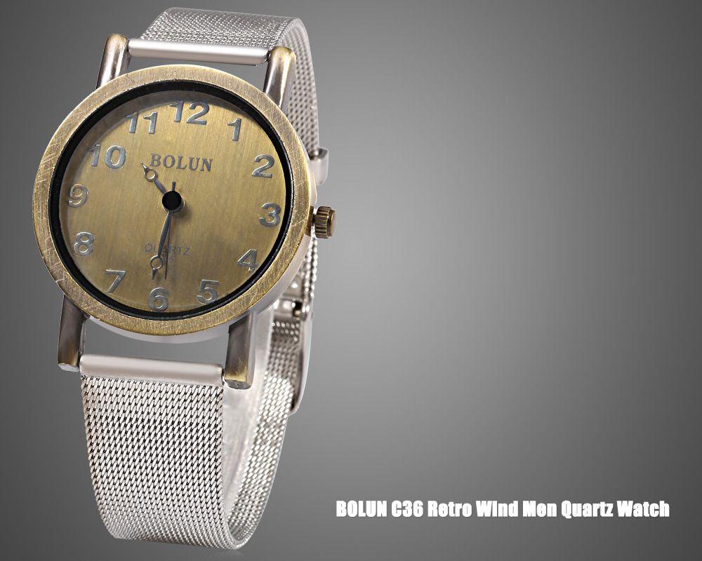 BOLUN C36 Vintage Color Retro Wind Male Quartz Watch