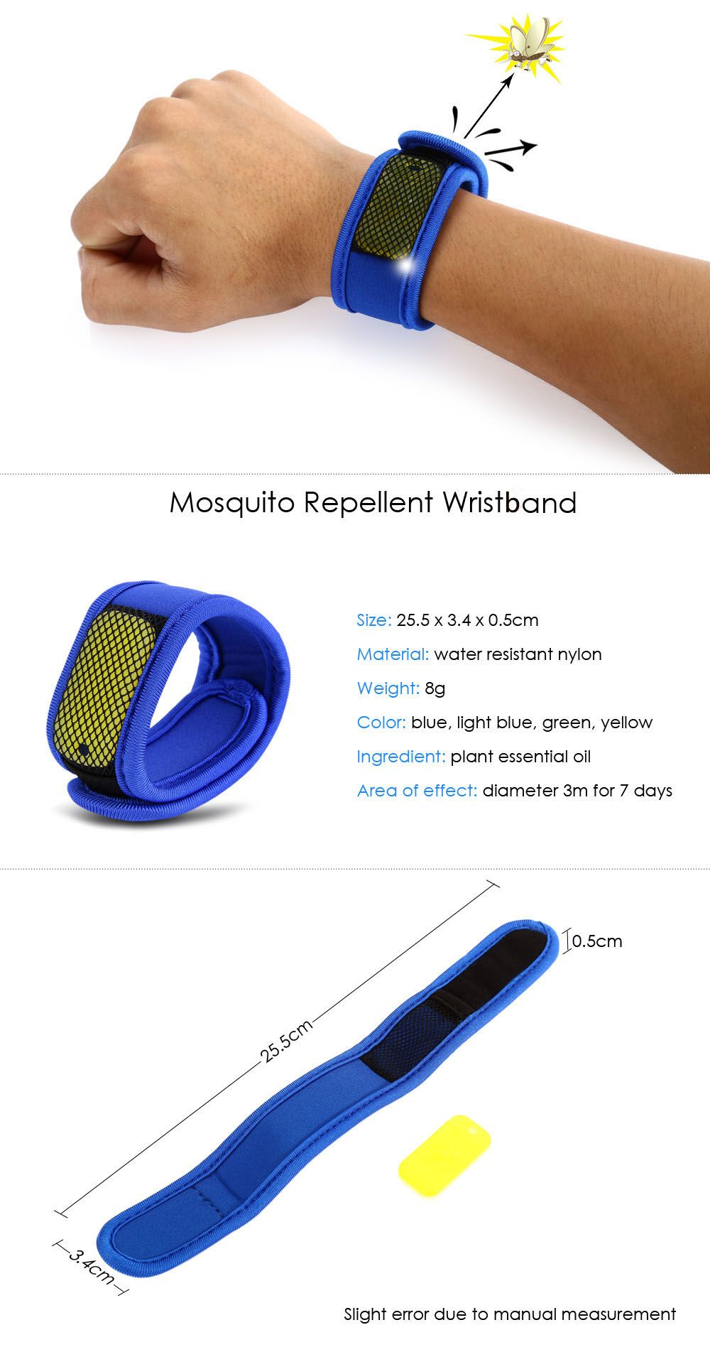 Replaceable Summer Mosquito Repellent Wristband