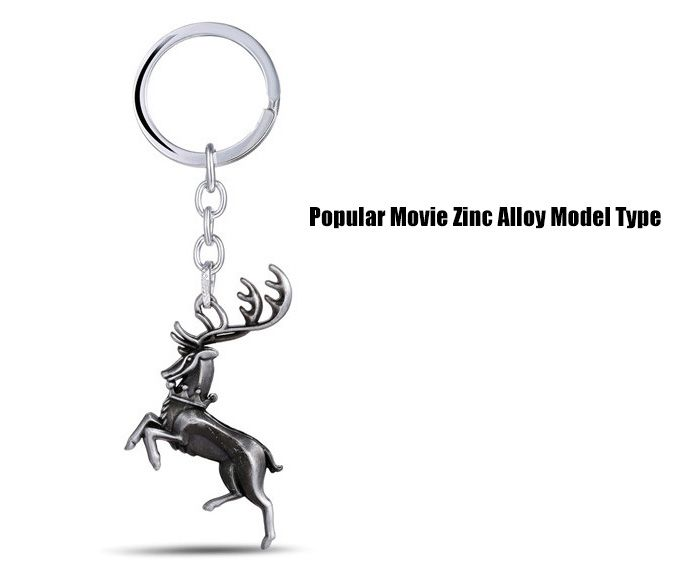 Buck Shape Hanging Pendant Zinc Alloy Key Chain Movie Product Bag Decoration