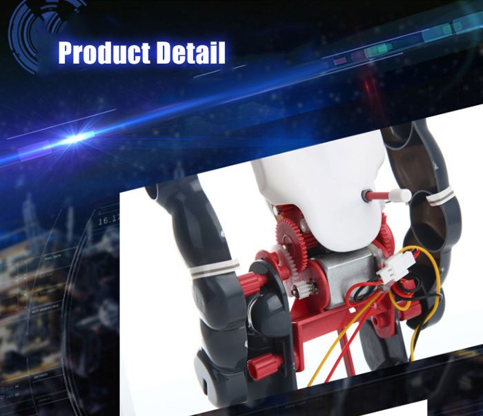 DIY Electric Tumbling Robot Kit 3-mode Science Assembly Toy for Children