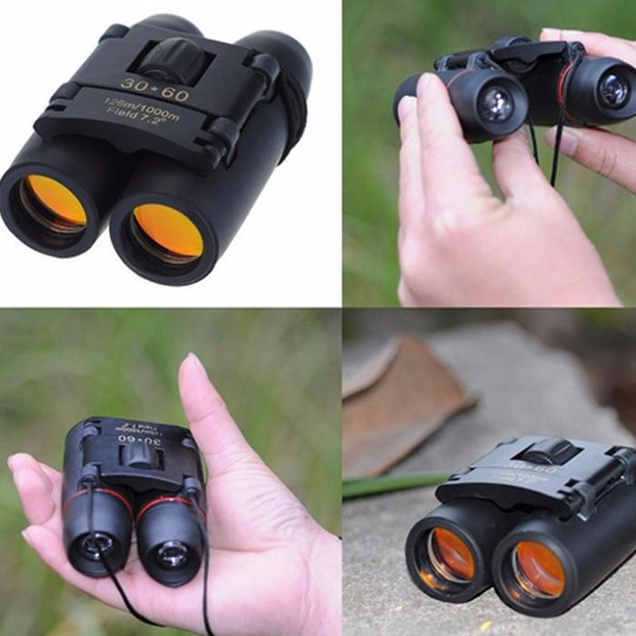 30 x 60 Folding Binoculars Porro BAK - 4 Prism 126m / 1000m Field of View