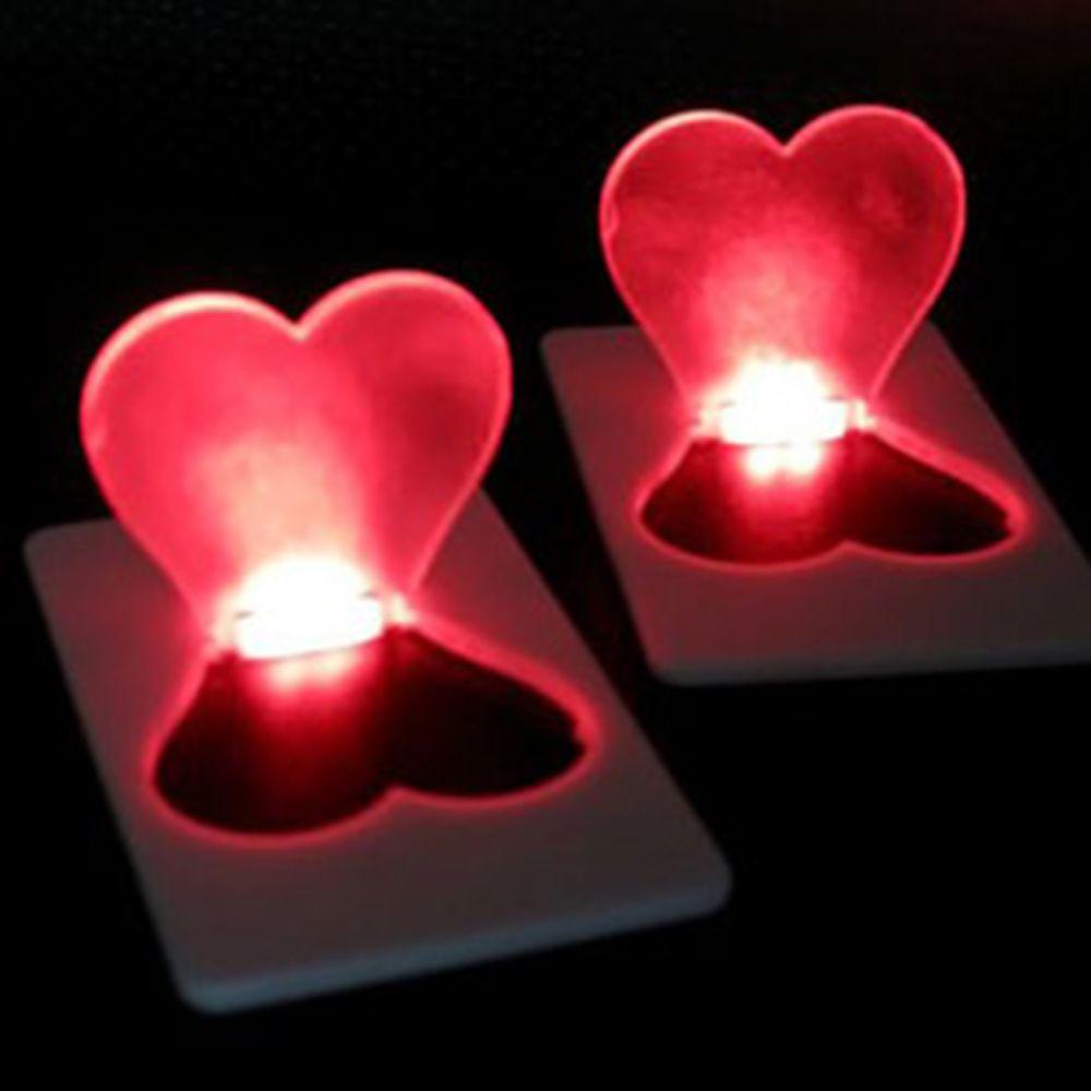 Amazing Pocket LED Card Light Mini Wallet Folding Lamp Portable Small Bulb Gadget