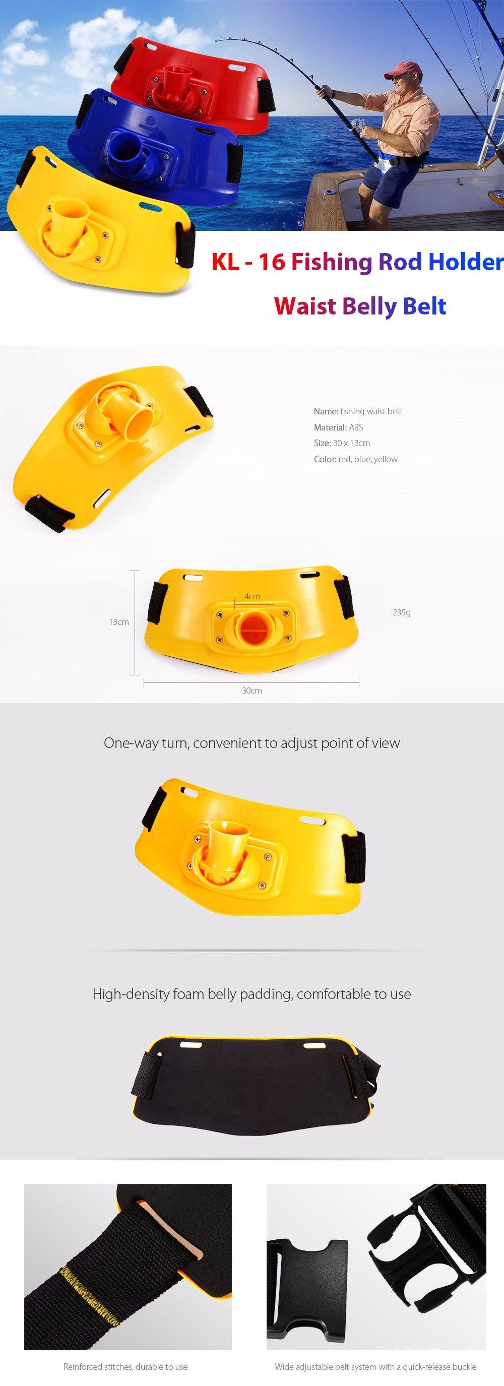 KL - 16 Portable ABS Fishing Rod Holder Waist Belly Belt for Fisherman
