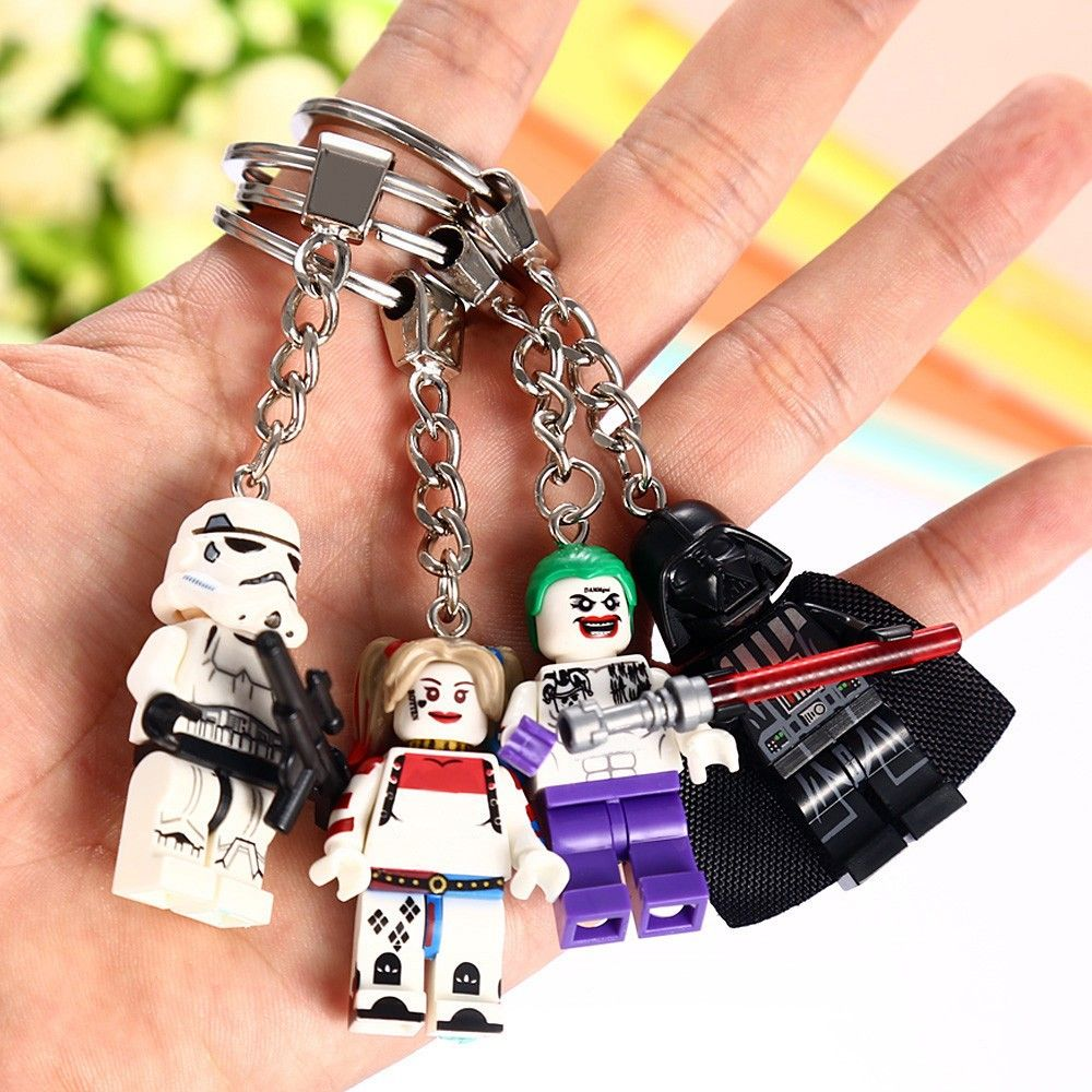 Alloy + Plastic Key Chain Hanging Pendant Clown Style Keyring Movie Product for Decoration