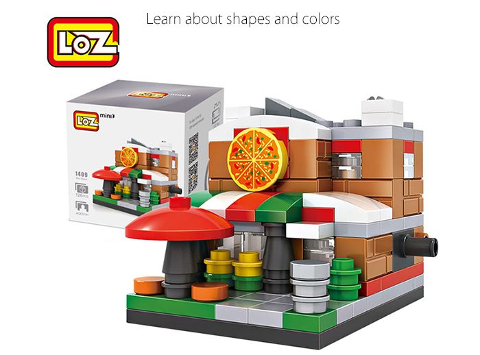 LOZ ABS Street View Architecture Building Block Educational Movie Product Kid Toy - 126pcs