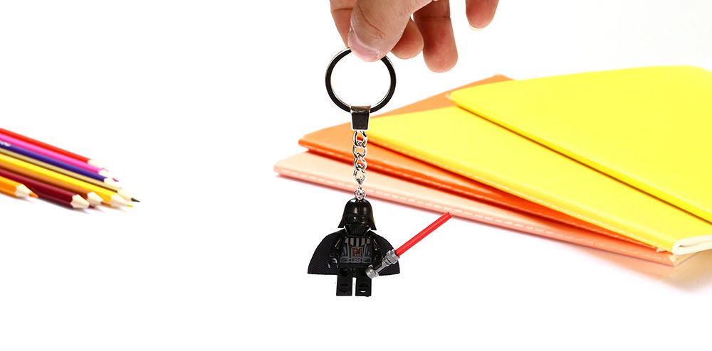 Alloy + Plastic Key Chain Hanging Pendant Warrior Shape Keyring Movie Product for Decoration