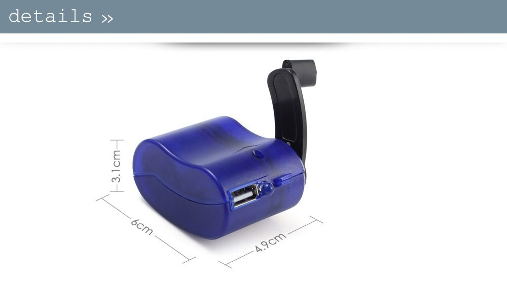 NO Portable Hand Manual USB Emergency Charger with Multiple USB Connector for Mobile Phone