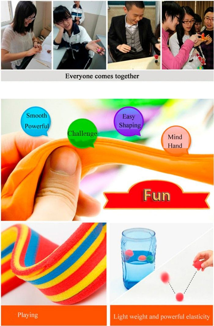 3D Colored Modeling Clay DIY Toy for Reducing Stress