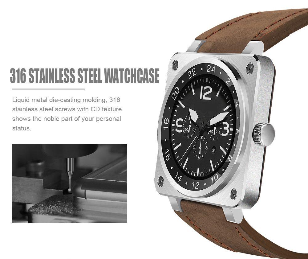 US18 Bluetooth 4.0 Heart Rate Monitor Smart Wristband Siri Voice Record Watch