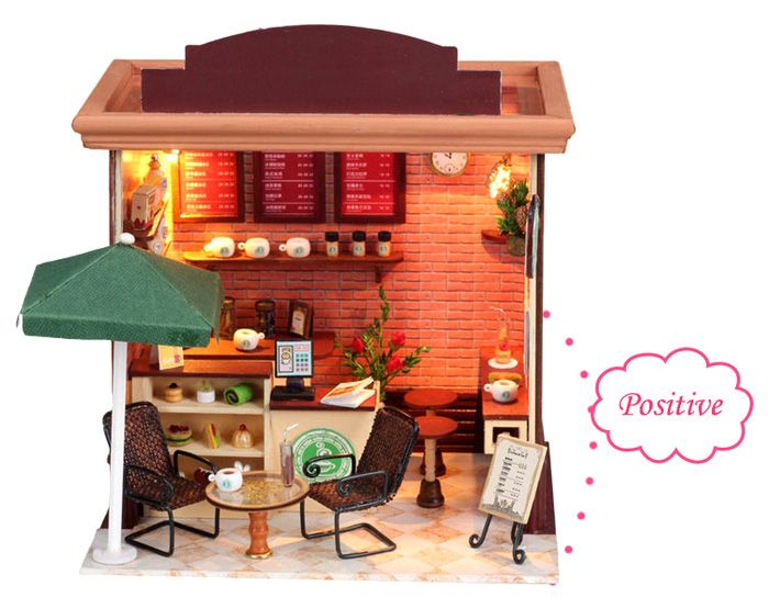 Doll House LOZ ABS Street View Architecture Building Block Educational Movie Product Kid Toy
