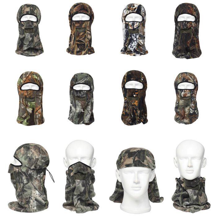 ENKAY Bionic Camouflage Pattern Mask Windproof Warm Fleece Made