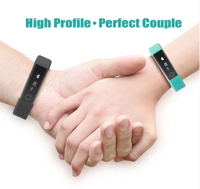 M1 Heart Rate Smart Wristband with Information Pushing Bidirectional Anti-lost Function