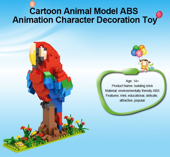 LOZ ABS Animal Building Block Educational Movie Product Kid Toy - 360pcs
