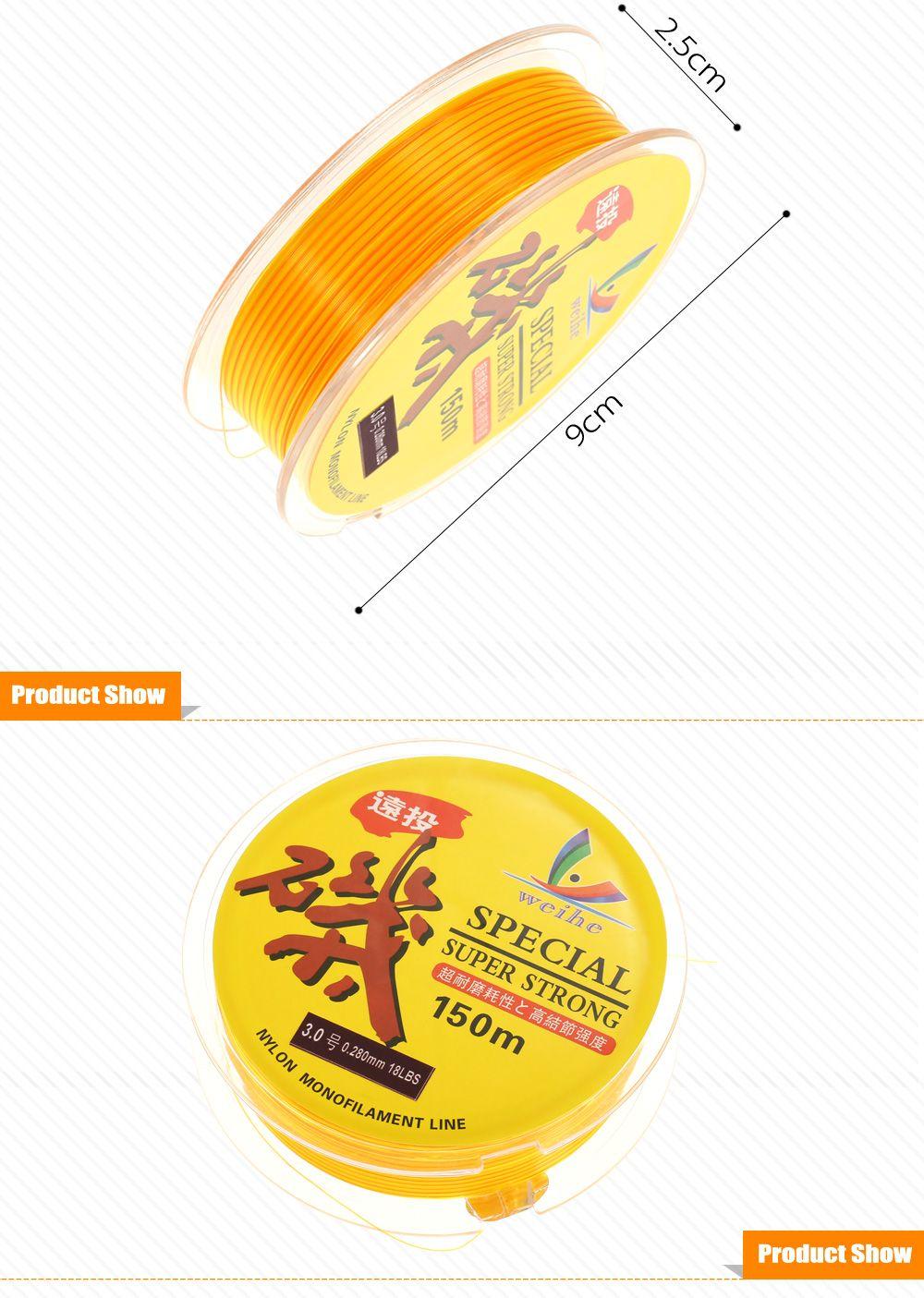 150m Wear-resistant Nylon No.3.0 Fishing Line