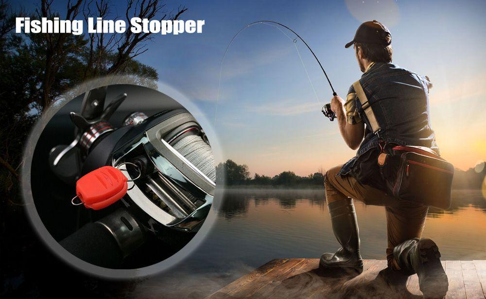 2pcs Fishing Line Stopper Holder for Baitcasting Reel