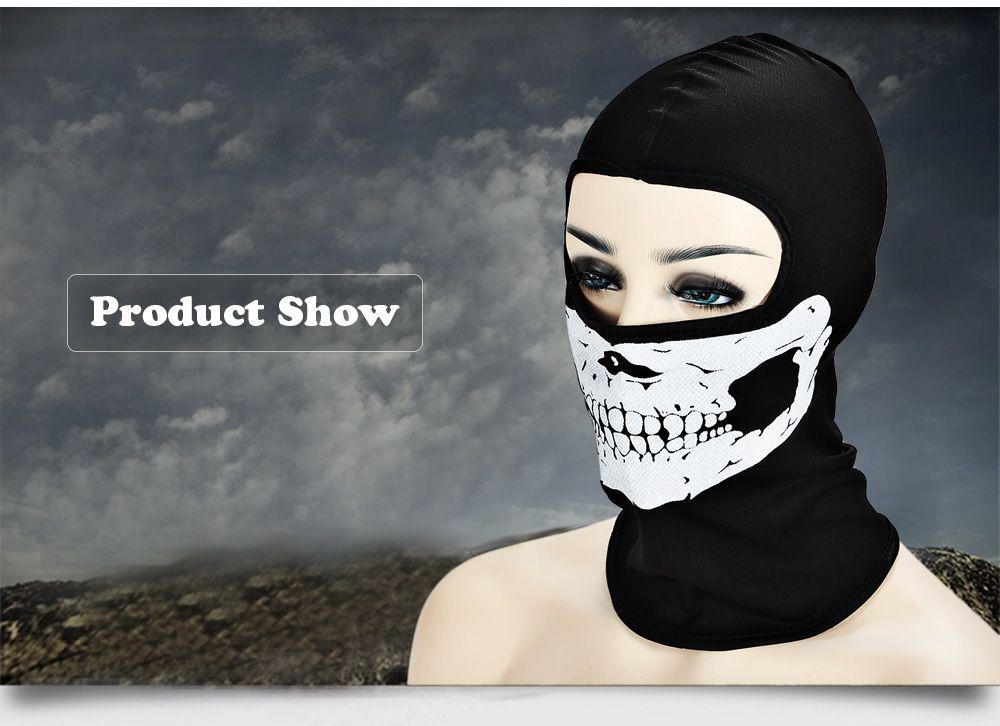 Outdoor Cycling Skull Mask CS Game Face Guard Riding Headgear