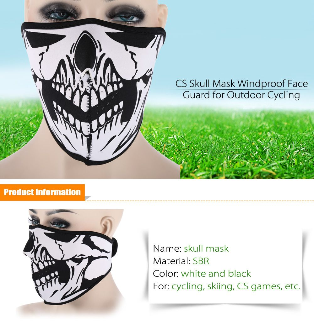 Outdoor Cycling Skull Mask Windproof Riding Face Guard