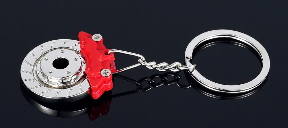 Alloy Brake Key Chain Hanging Pendant Keyring - 3.54 inch