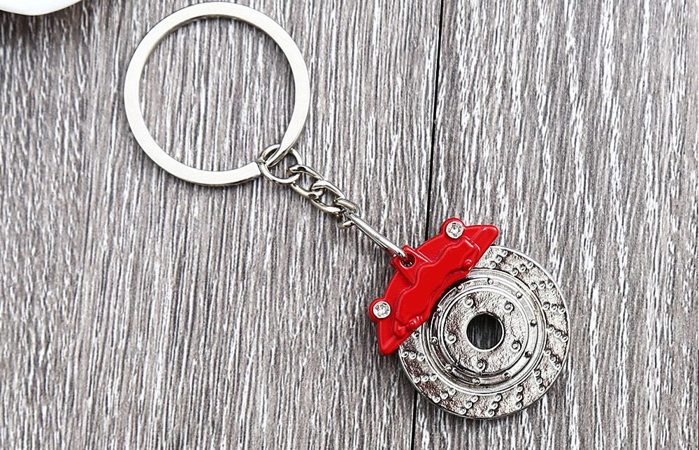 Alloy Brake Key Chain Hanging Pendant Keyring - 3.54 inch
