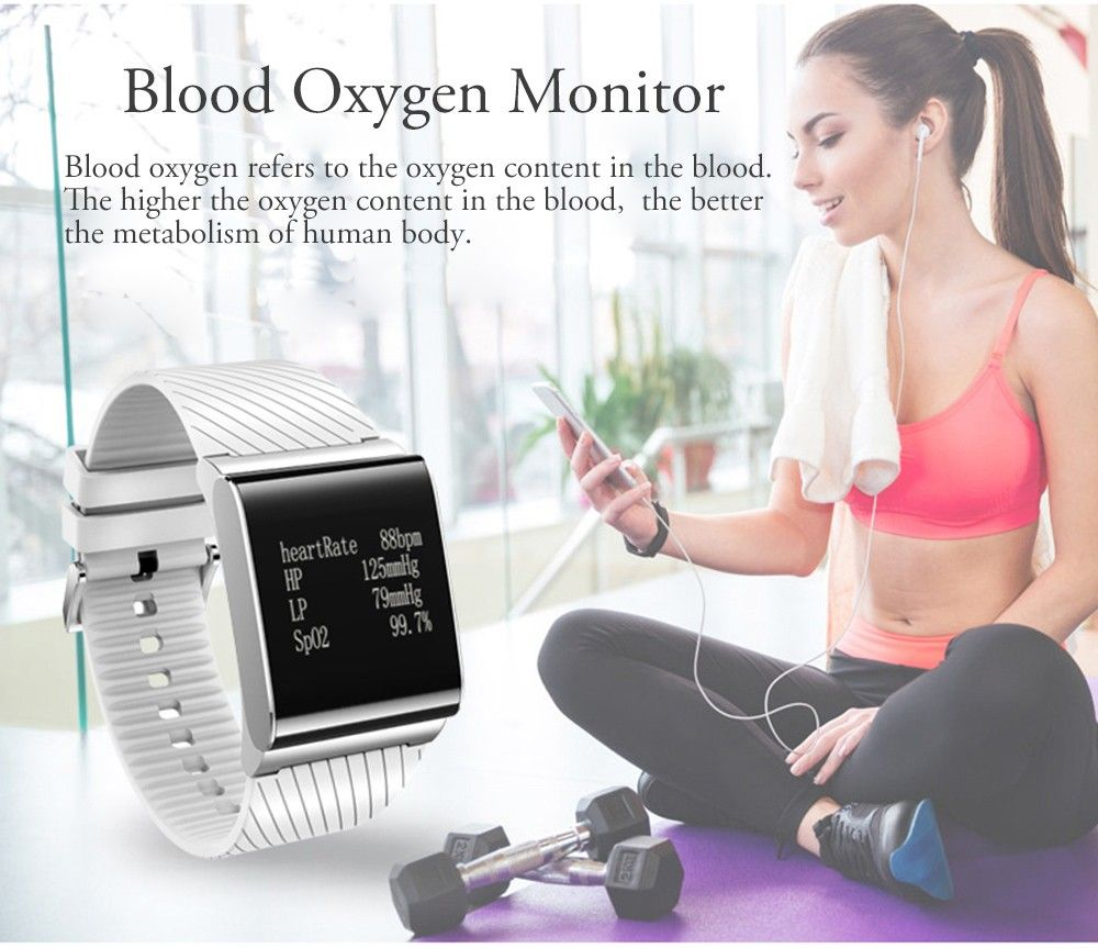 X9 Plus BLE 4.0 Heart Rate Smart Wristband Blood Pressure Oxygen Monitor Bracelet