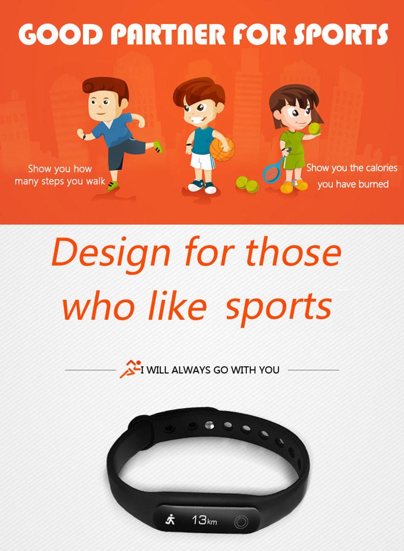 U02 Pedometer Sleep Monitor Smart Wristband Long Standby Time Bracelet