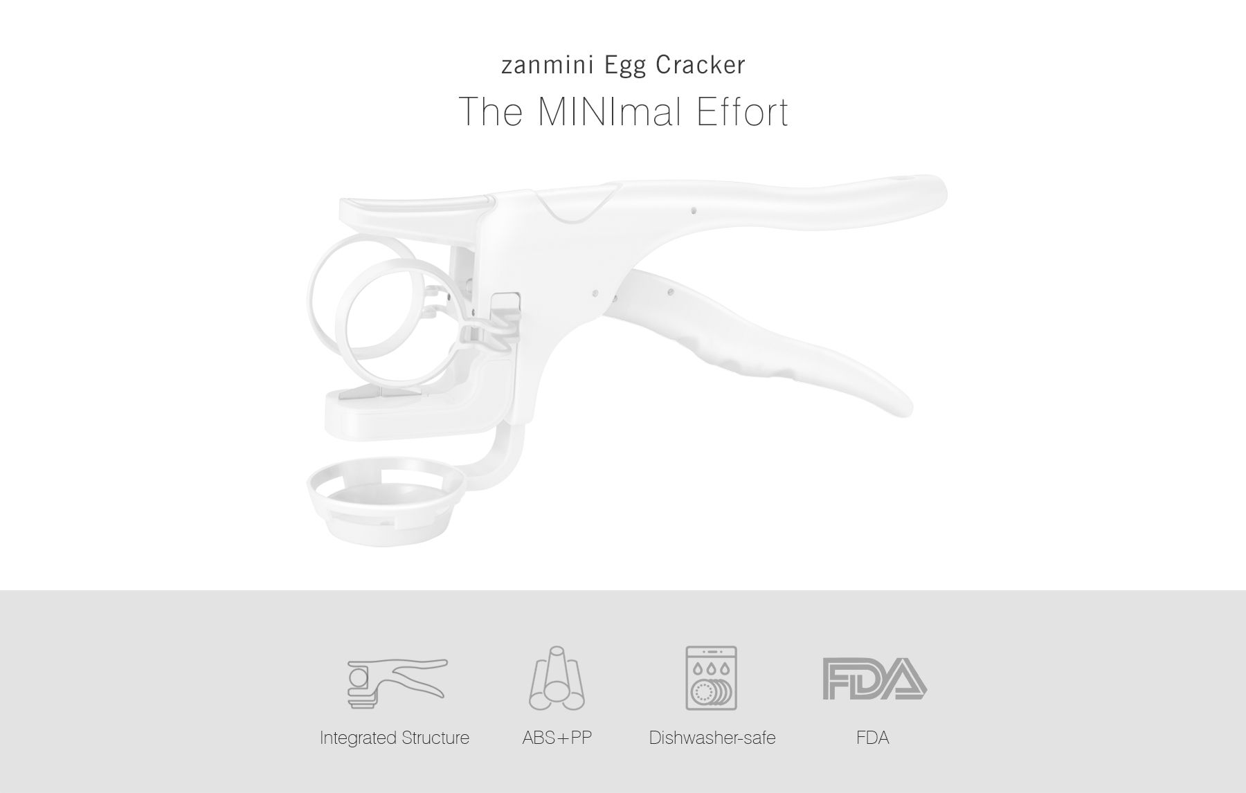 zanmini Handheld Egg Cracker with Separator Home Kitchen Tool