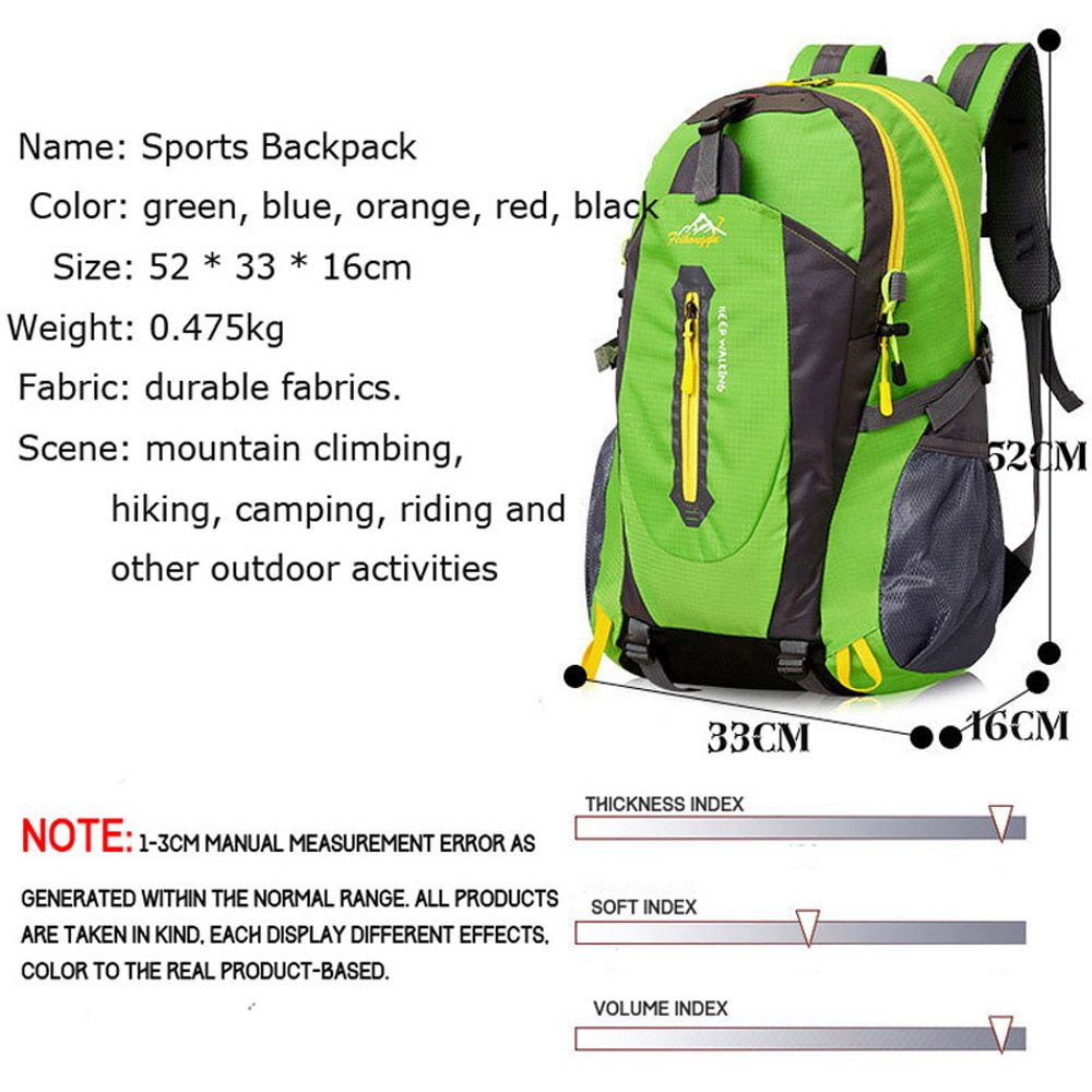 FengTu 40L Hiking Backpacks Soft Pack Climbing Outdoor Bags for Men And Women Sports Bag Camping