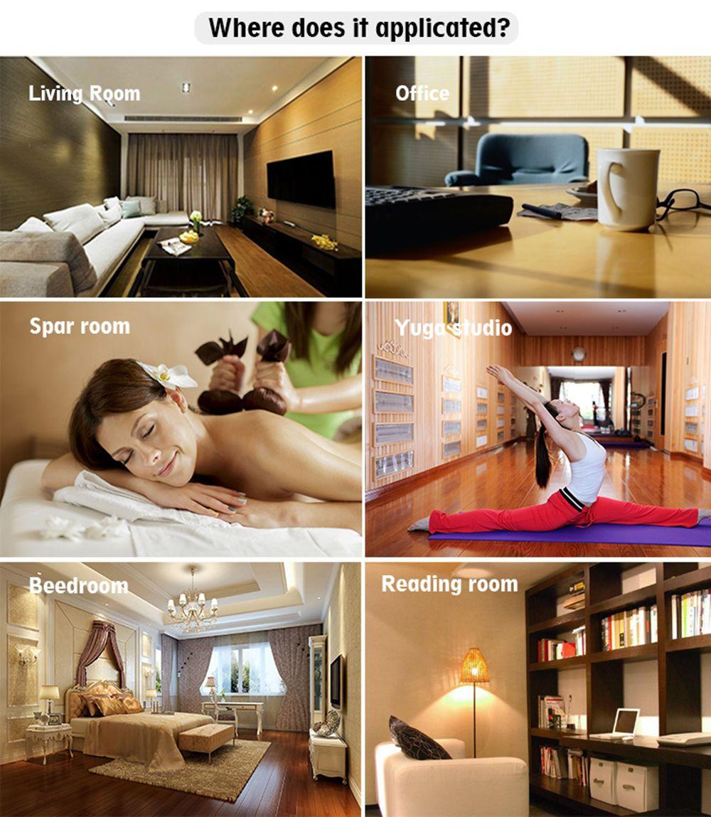 300ml Wood Grain  Air Humidifier Ultrasonic Aroma Diffuser LED Night Light