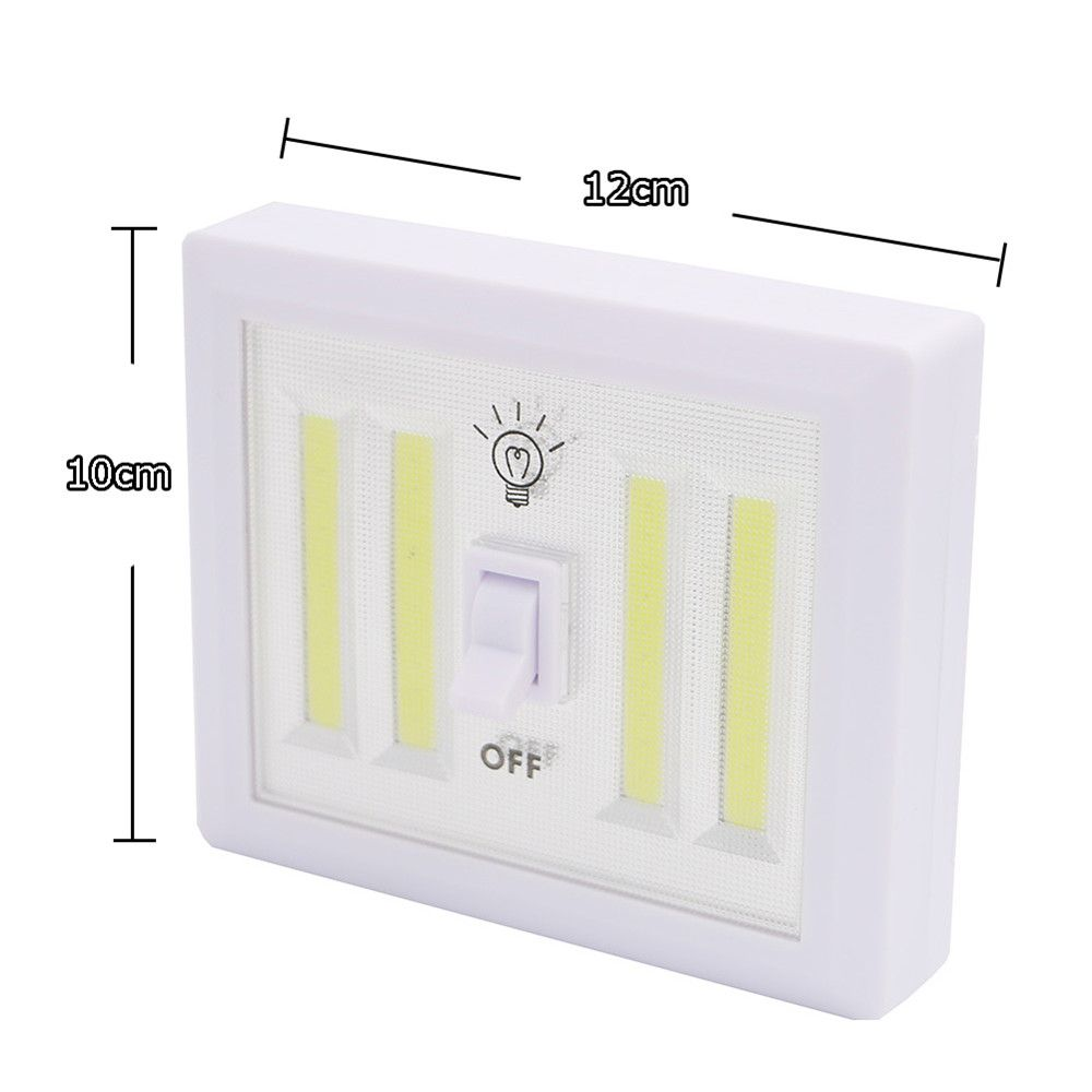 Supli 4COB Led Wireless Night Light Switch Wall Lamp Battery Operated Kitchen Cabinet Garage Closet Camp Emergency Lamp with Magnetic