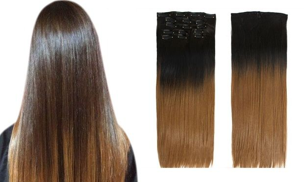 TODO Straight Ombre 7-Piece 16-Clip Clip-in Hair Extensions