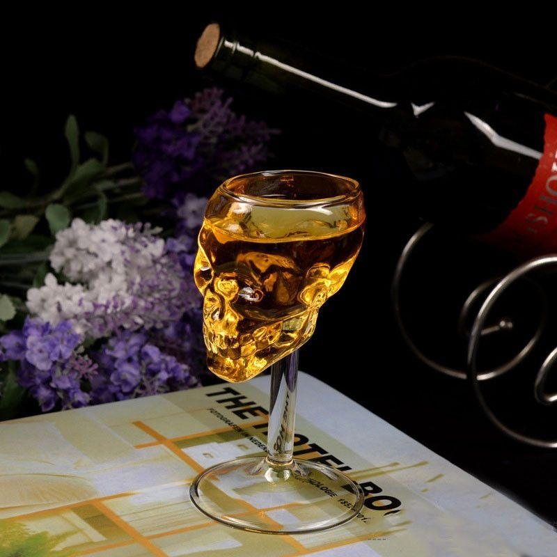High Boron Silicon Glass 3 D Vodka Whisky Observation Skulls Wine Goblet