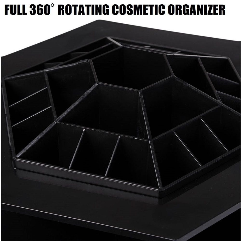 360 Degree Rotating Cosmetic Makeup Organizer Box Storage Rack Case Stand Holder Jewelry Gifts Toy