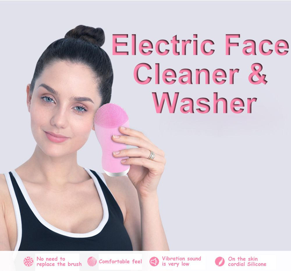 Silicone Gel Face Vibrating Massager Waterproof Charging Beauty Face Care Cleaner Cleaning Machine Facial Massagetools Bm001