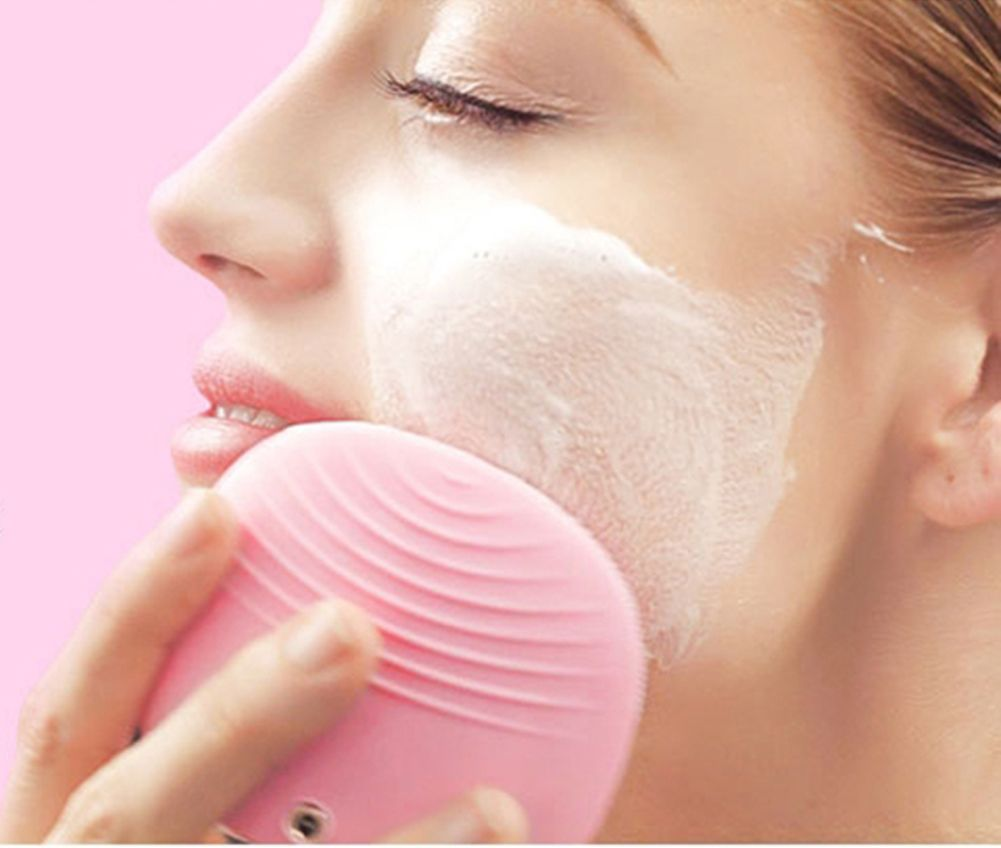 Silicone Gel Face Vibrating Massager Waterproof Charging Beauty Face Care Cleaner Cleaning Machine Facial Massagetools