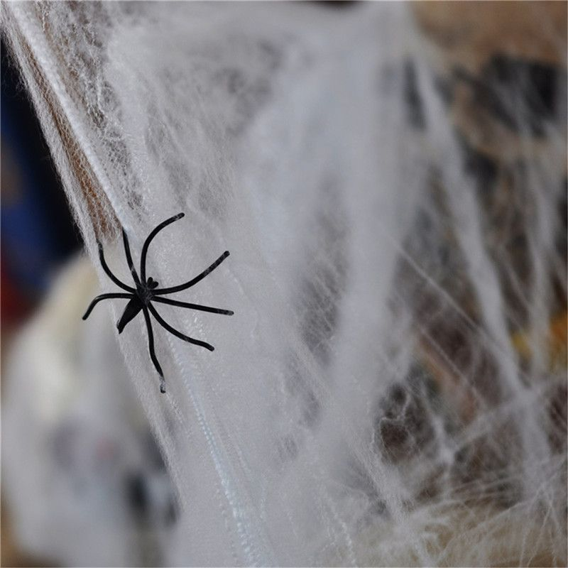 Popular Funny Plastic Spider Web Cotton for Halloween Party Decoration Bar Scene Props