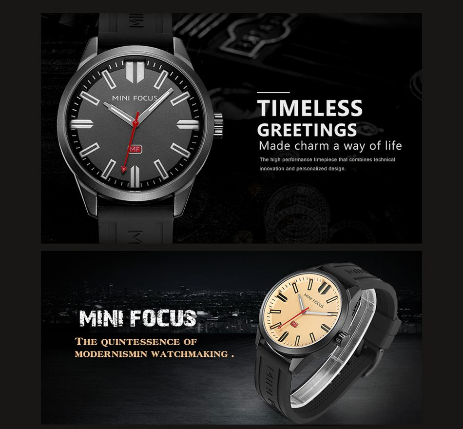 MINI FOCUS Mf0050G 4448 Luminous Needle Calendar Display Men Watch