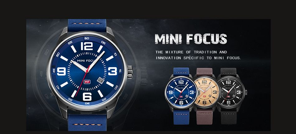 MINI FOCUS Mf0050G 4447 Luminous Needle Men Watch